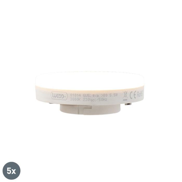 Conjunto-de-5-lâmpadas-LED-GX53-5,5-W-470-lúmen-3000K