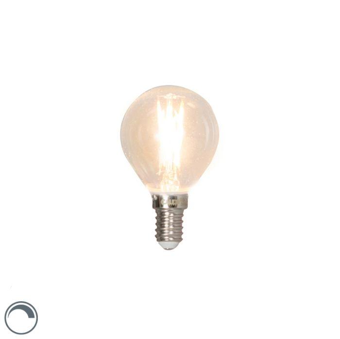 Lâmpada-esférica-de-filamento-LED-regulável-E14-3W-350lm-2700K