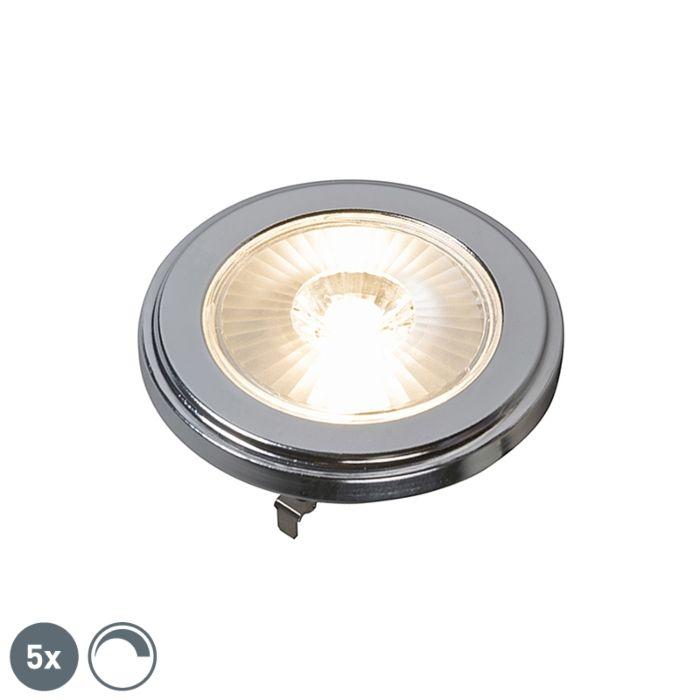 Conjunto-de-5-lâmpadas-LED-AR111-reguláveis-G53-10W-800LM-3000K