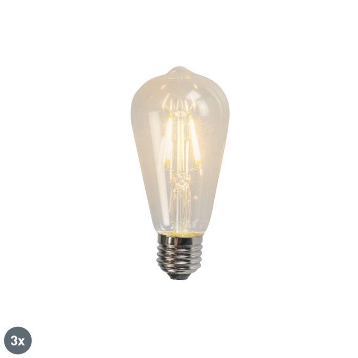 Conjunto-de-3-lâmpadas-de-filamento-LED-E27-ST64-4W-320lm-2700K