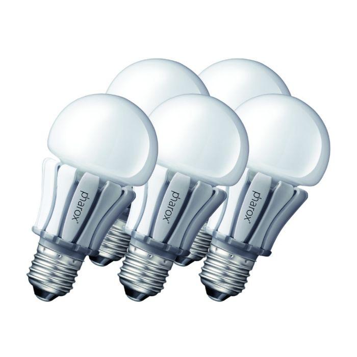 Conjunto-de-5-lâmpadas-LED-Pharox-400-E27-8W-230V