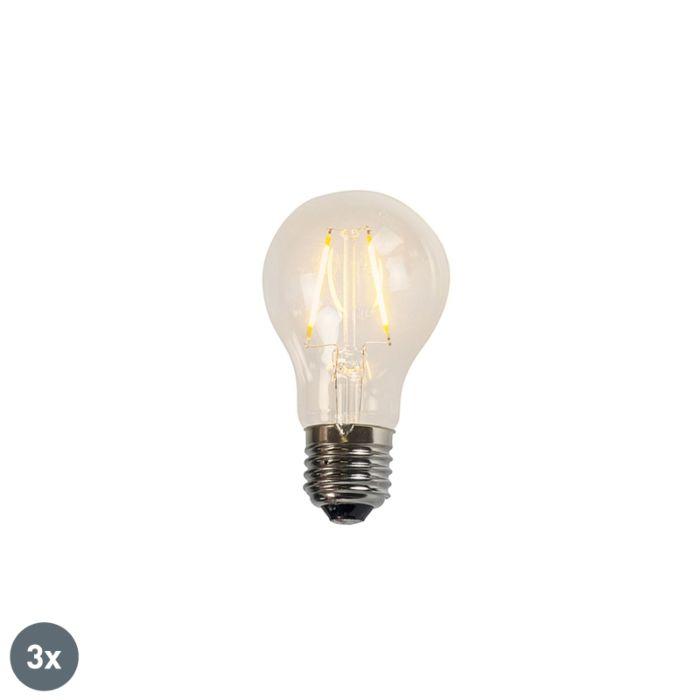 Conjunto-de-3-lâmpadas-LED-de-filamento-A60-2W-2200K-transparentes
