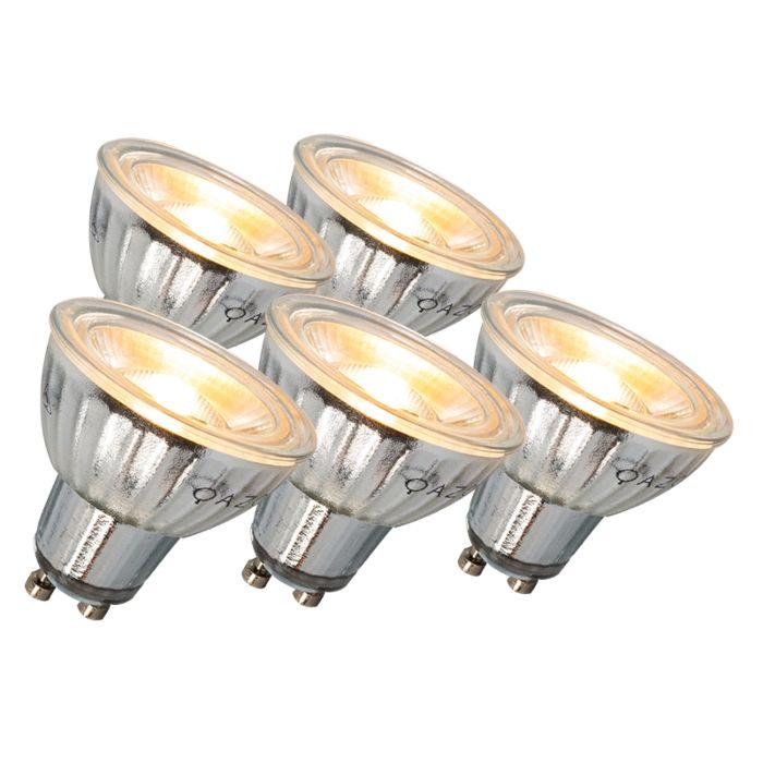 Lâmpada-LED-GU10-7W-500LM-3000K-regulável-conjunto-de-5