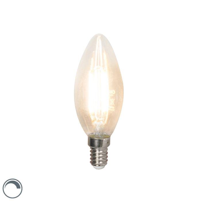 Lâmpada-de-vela-de-filamento-LED-E14-240V-3,5W-350lm-B35-regulável
