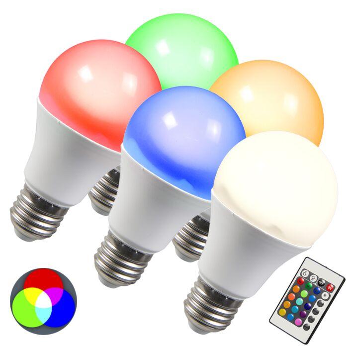 Lâmpada-LED-RGB-E27-10W-branco-quente-extra-conjunto-de-5