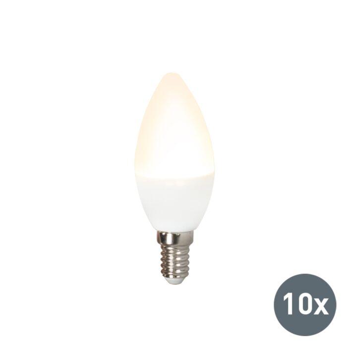 Conjunto-de-10-lâmpadas-LED-C37-E14-3W-3000K