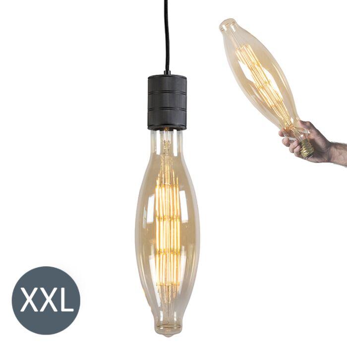 Lâmpada-suspensa-Elips-preta-com-lâmpada-LED-regulável