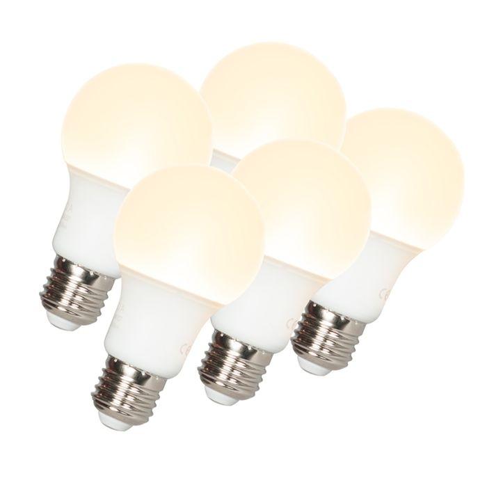 Conjunto-de-5-lâmpadas-LED-A60-E27-9W-3000K