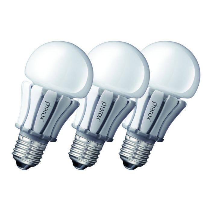 Conjunto-de-3-lâmpadas-LED-Pharox-400-E27-8W-230V