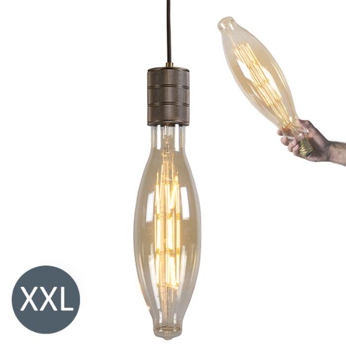 Lâmpada-suspensa-Elips-bronze-com-lâmpada-LED-regulável