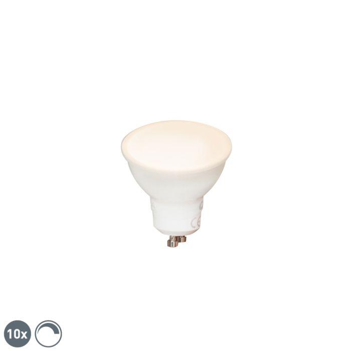 Conjunto-de-10-lâmpadas-LED-reguláveis-GU10-6W-450-lm-2700K
