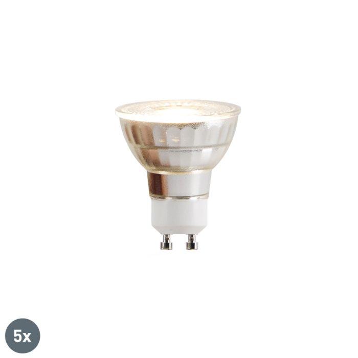 Conjunto-de-5-lâmpadas-LED-GU10-COB-5W-380lm-2700K