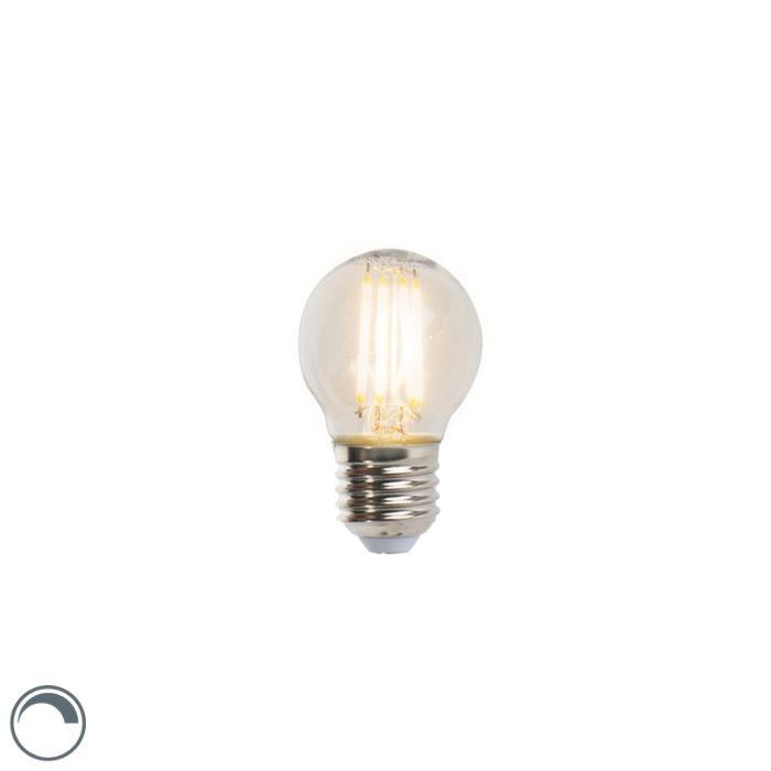 Lâmpada-esférica-de-filamento-LED-E27-5W-470lm-P45-regulável