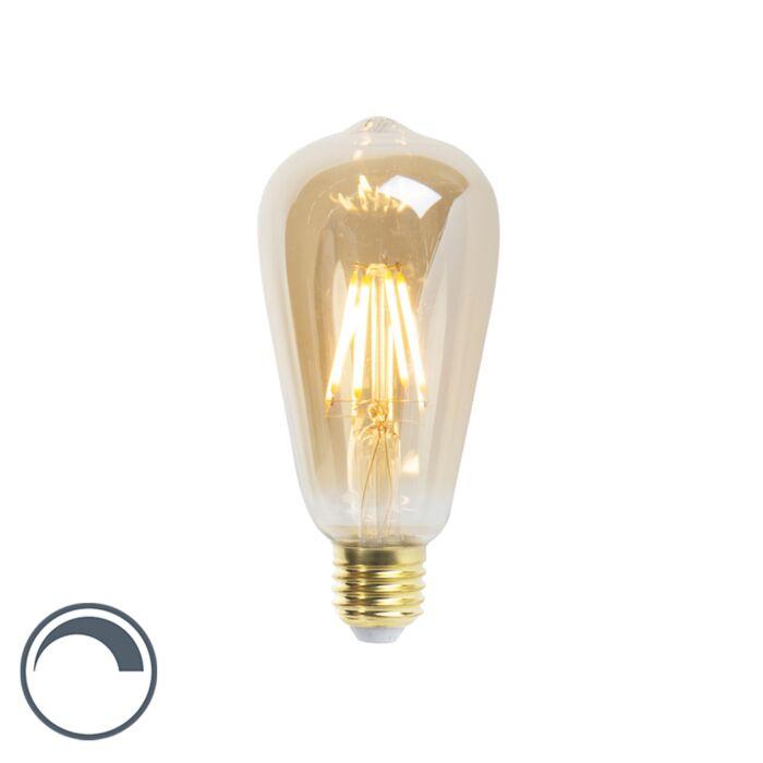 Lâmpada-de-filamento-LED-ST64-E27-5W-360-lúmen-2200K-regulável