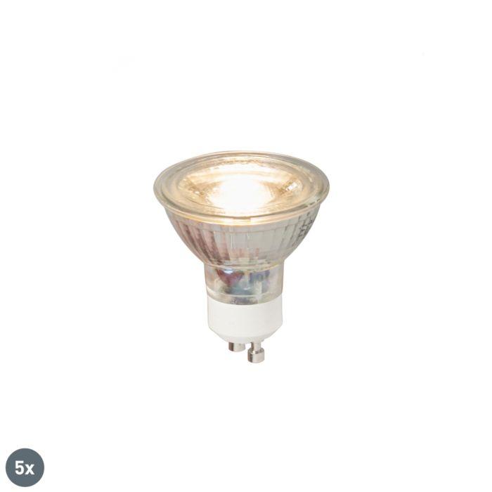 Conjunto-de-5-lâmpadas-LED-GU10-COB-5W-380LM-3000K
