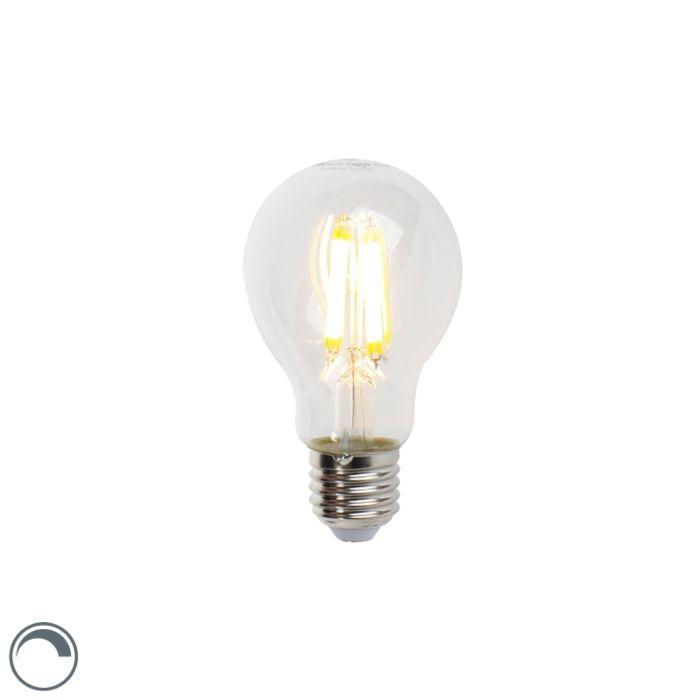 Lâmpada-de-filamento-LED-E27-7W-806lm-A60-regulável-transparente
