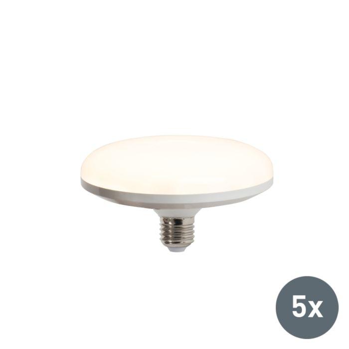 Conjunto-de-5-lâmpadas-LED-UFO-E27-18W-branco-quente