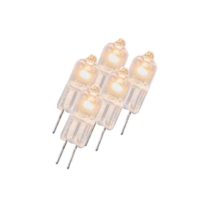 Conjunto-de-5-lâmpadas-halógenas-G4-5W-12V-transparentes