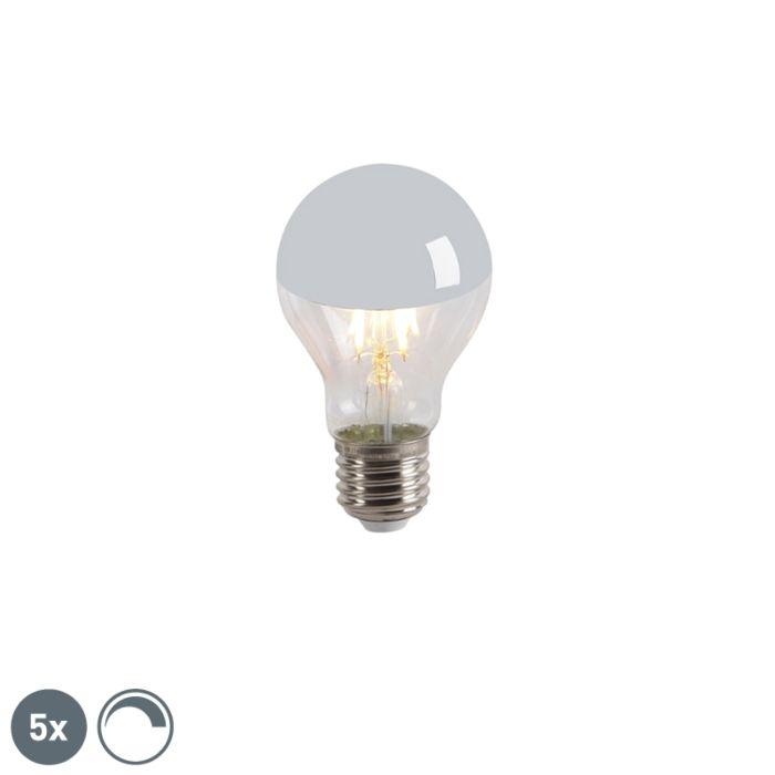Conjunto-de-5-lâmpada-s-espelho-LED-E27-240V-4W-300lm-A60-regulável