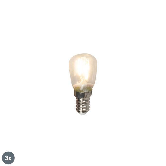 Conjunto-de-3-lâmpadas-de-filamento-LED-E14-para-quadro-elétrico-T26-1W-100lm-2700-K.