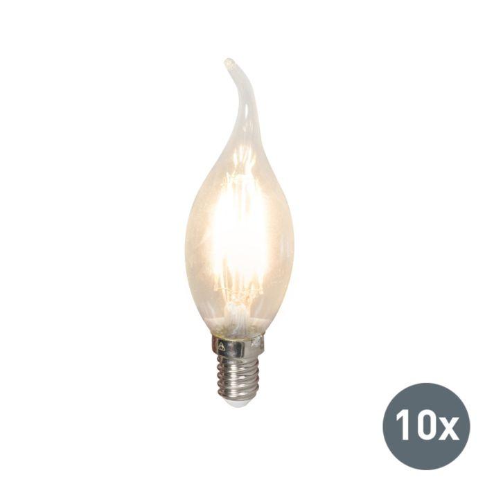 Conjunto-de-10-lâmpadas-de-vela-com-ponta-de-filamento-LED-E14-240-V-3,5-W-350lm-BXS35-regulável