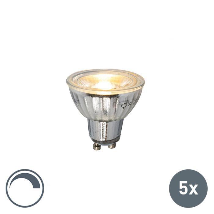 Conjunto-de-5-lâmpadas-LED-GU10-230V-5W-380LM-2700K-dimerizável