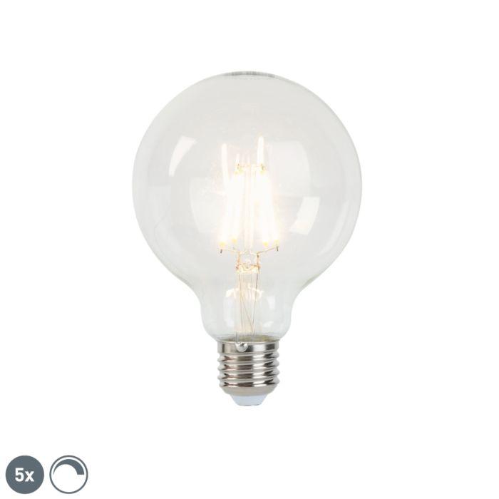 Conjunto-de-5-lâmpadas-de-filamento-LED-reguláveis-E27-G95-5W-470-lm-2700K