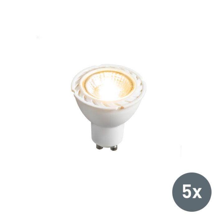 Conjunto-de-5-lâmpadas-LED-GU10-240V-7W-2700K-regulável