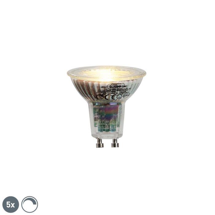 Conjunto-de-5-lâmpadas-LED-GU10-6W-450lumen-2700K-regulável