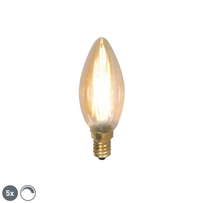 Conjunto-de-5-lâmpadas-de-vela-de-filamento-LED-E14-reguláveis-200lm-2100-K.