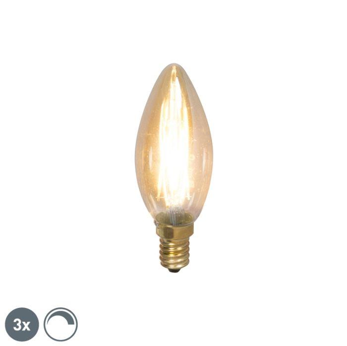 Conjunto-de-3-lâmpadas-de-vela-de-filamento-LED-E14-reguláveis-200lm-2100-K.