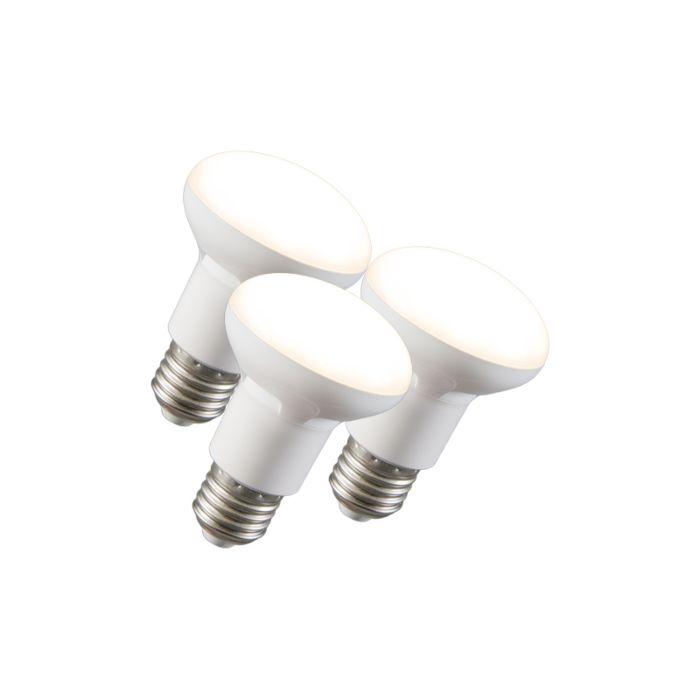 Conjunto-de-3-lâmpadas-refletoras-LED-R63-E27-240V-8W-2700K-regulável