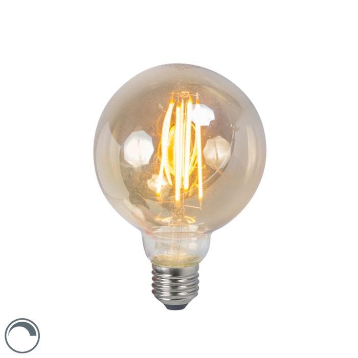 Lâmpada-de-filamento-LED-E27-5W-2200K-G95-regulável-fumê