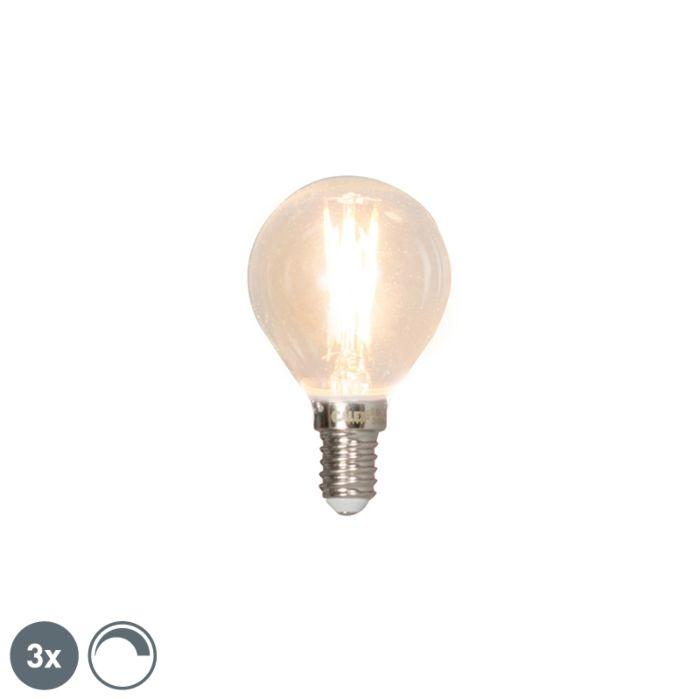 Conjunto-de-3-lâmpadas-esféricas-de-filamento-LED-reguláveis-E14-3W-350lm-2700K