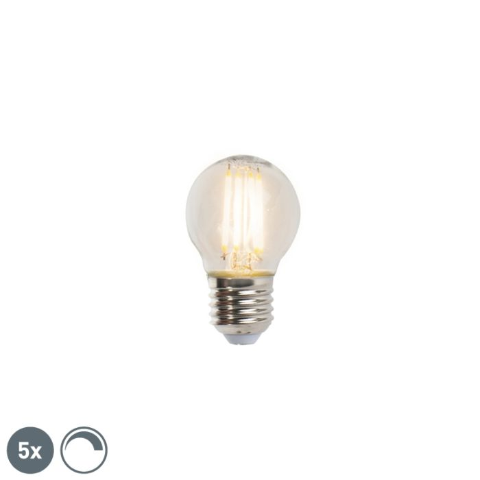 Conjunto-de-5-lâmpadas-esféricas-de-filamento-LED-reguláveis-E27-5W-470lm-2700K
