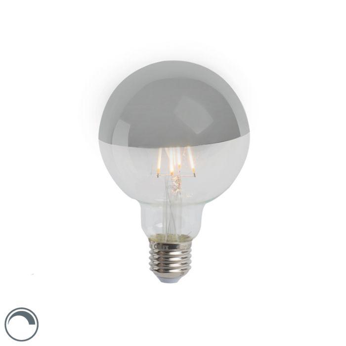 Lâmpada-de-filamento-LED-espelho-principal-prateado-E27-240V-4W-280lm-2300K-G95-regulável
