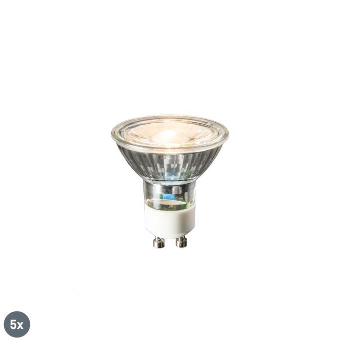 Conjunto-de-5-lâmpadas-LED-GU10-COB-3W-230lm-2700K