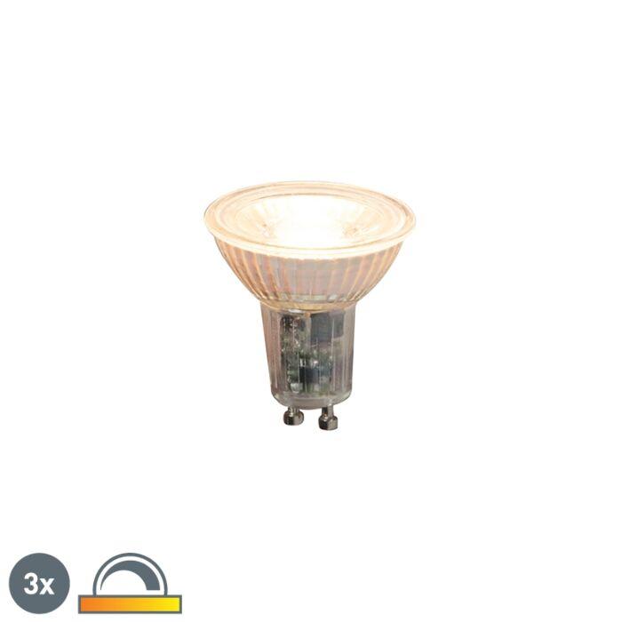 Conjunto-de-3-lâmpadas-LED-reguláveis-GU10-5,5-W-360lm-2000K---2700K