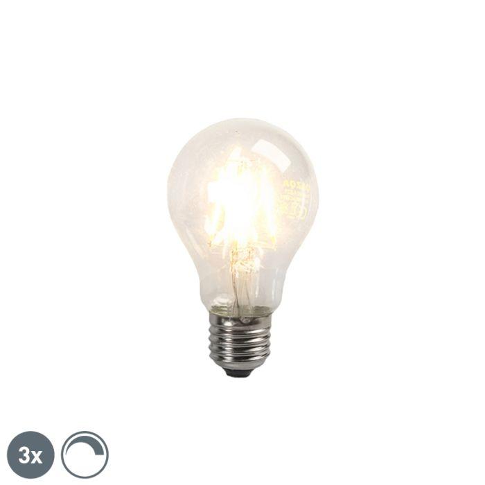 Conjunto-de-3-lâmpadas-de-filamento-de-LED-E27-4W-390lm-regulável