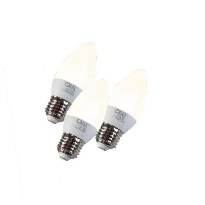 Conjunto-de-3-lâmpadas-de-vela-LED-E27-5W-240V-2700K-regulável