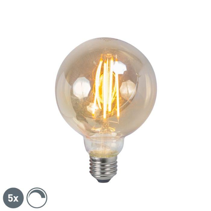 Conjunto-de-5-lâmpadas-de-filamento-fumê-LED-E27-reguláveis-5W-450lm-2200K