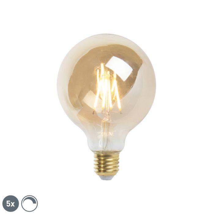 Conjunto-de-5-lâmpadas-de-filamento-LED-reguláveis-E27-9,5-cm-5W-360-lúmen-2200K