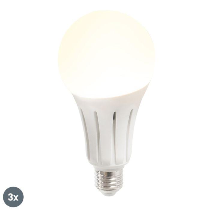 Conjunto-de-3-lâmpadas-LED-B60-18W-E27-branco-quente