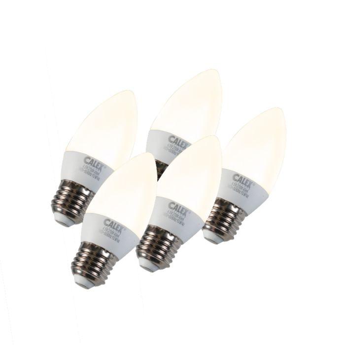 Conjunto-de-5-lâmpadas-de-vela-LED-E27-5W-240V-2700K-regulável