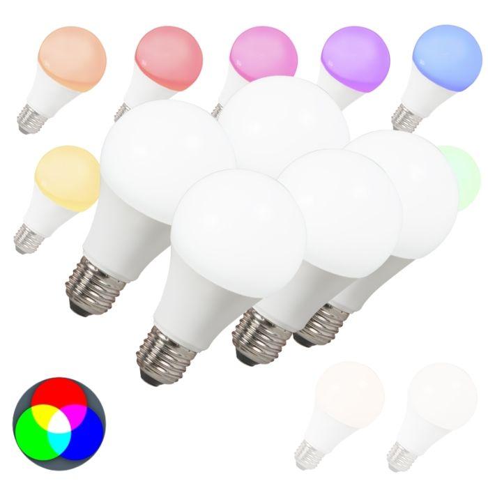 Conjunto-de-5-lâmpadas-LED-E27-240V-7W-500lm-A60-Smart-Light