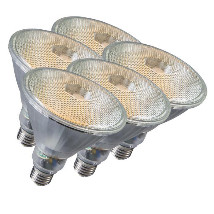 Conjunto-de-5-lâmpadas-Par38-E27-20W-800LM-2700K