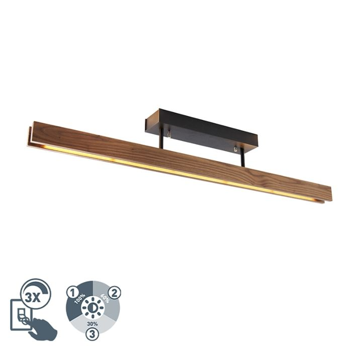 Candeeiro-de-tecto-rústico-madeira-escura-regulável-3-fases-LED---HOLZ