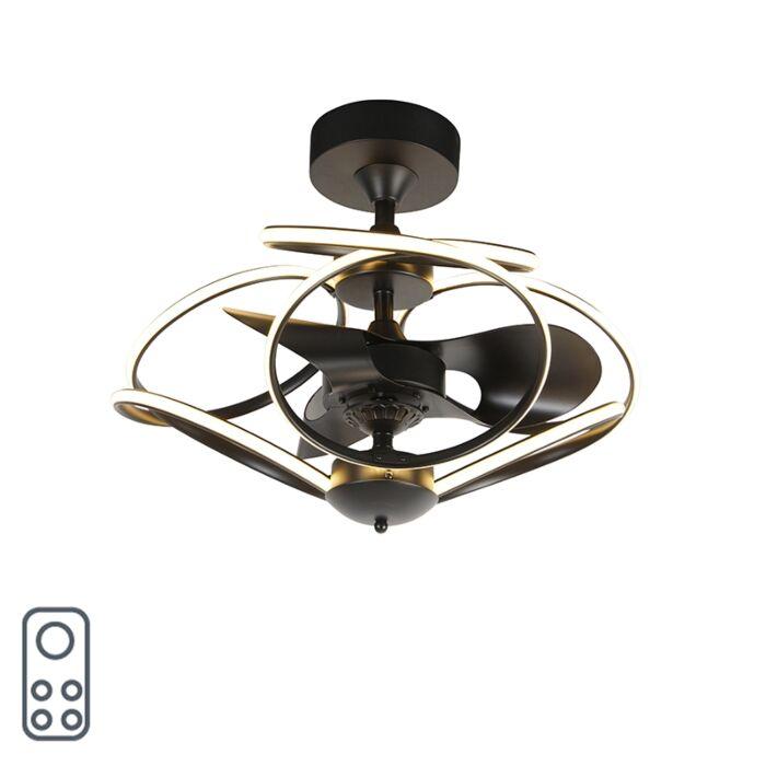Ventilador-de-teto-design-preto-telecomando-LED---KAUV