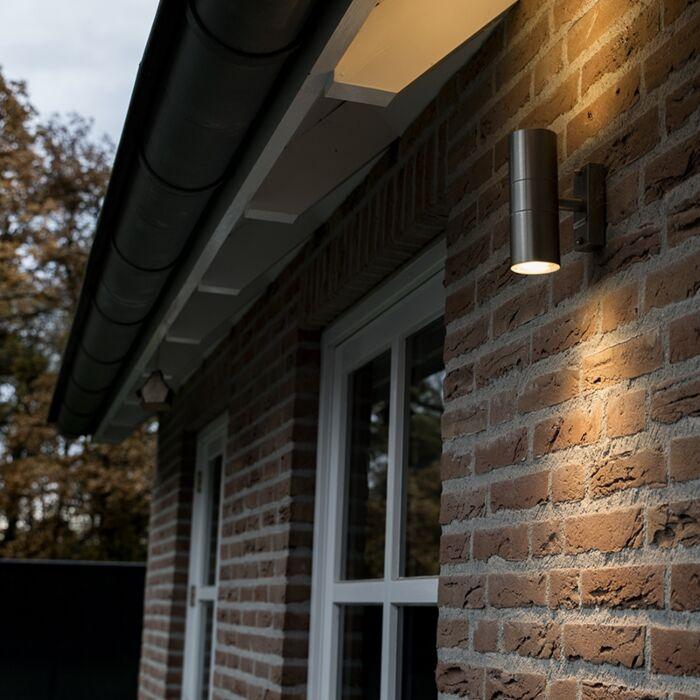 Lâmpada-exterior-Duo-aço