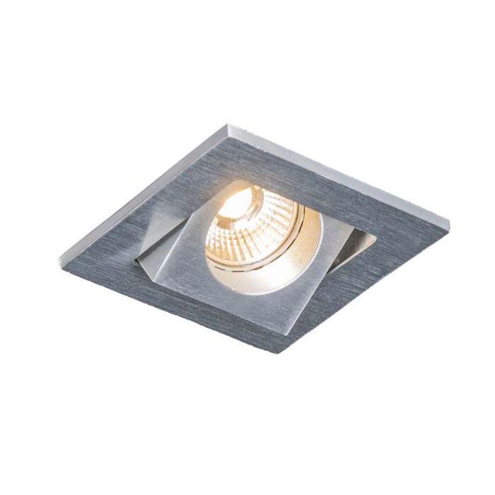 Foco-embutido-Quale-quadrado-de-alumínio-LED